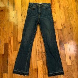 Zara Raw Hem Jeans